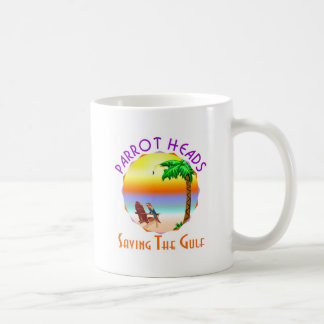 Parrot Heads Saving The Gulf from BP oil Classic White Coffee Mug