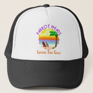 Parrot Heads Saving The Gulf from BP oil Trucker Hat