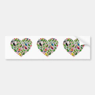 Parrot Heart Bumper Sticker