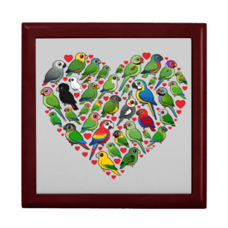 Parrot Heart Keepsake Box