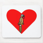 Parrot Heart Mouse Pad