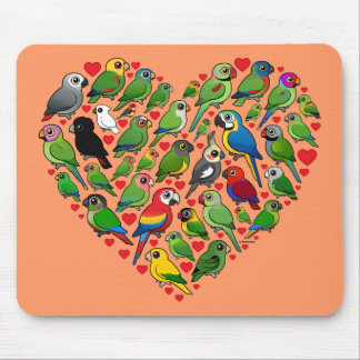 Parrot Heart Mouse Pads