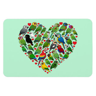 Parrot Heart Rectangular Photo Magnet
