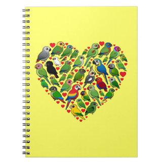 Parrot Heart Spiral Notebook