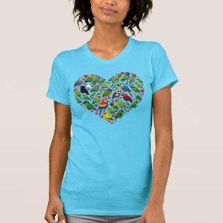 Parrot Heart T Shirts