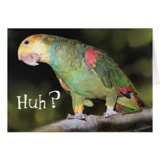 Parrot, Huh? Greeting Card