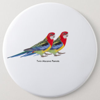 Parrot image for Colossal Round Badge Pinback Button