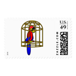 Parrot In A Cage Postage