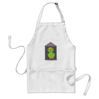 parrot in cage adult apron
