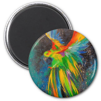 Parrot in flight magnet