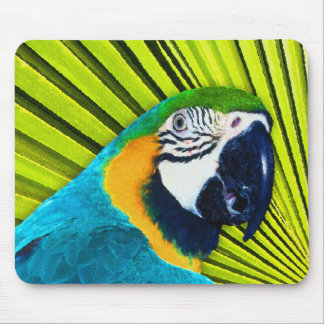 Parrot In Palm Tree Mouse Pad
