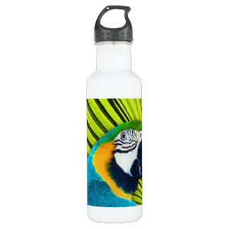 Parrot In Palm Tree Stainless Steel Water Bottle