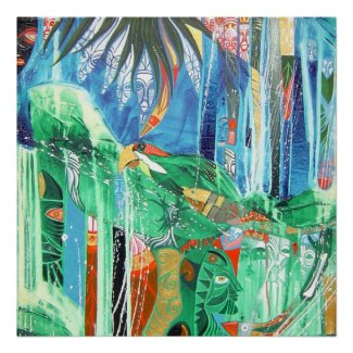 PARROT IN PARADISE print