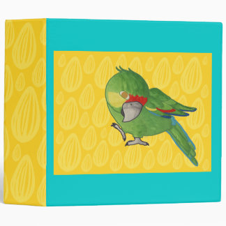 Parrot in watercolor 3 ring binder