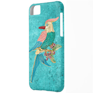 Parrot Jewel Turquoise Snowflakes iPhone 5 Case