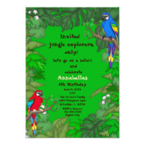Parrot Jungle Birthday Invitation
