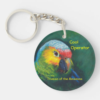 Parrot key ring,island,tropical keychain