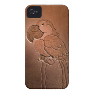 parrot  leather Case-Mate iPhone 4 case