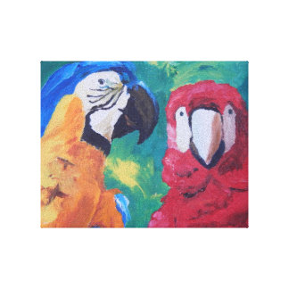Parrot Love Birds Canvas Print