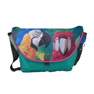 Parrot Love Birds Messenger Bag