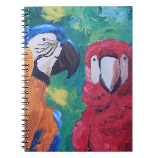 Parrot Love Birds Spiral Notebook