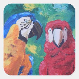 Parrot Love Birds Sticker