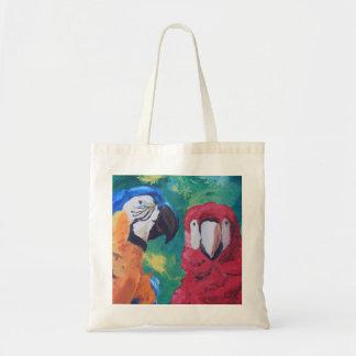 Parrot Love Birds Tote Bag
