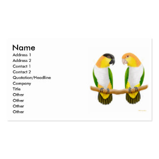 Parrot Love Profile Card Double-Sided Standard Business Cards (Pack Of 100)
