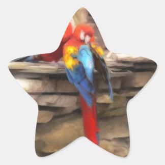 Parrot Love Star Sticker