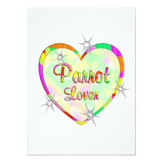 Parrot Lover 5.5x7.5 Paper Invitation Card