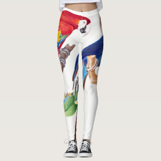 Parrot Macaw Birds Wildlife All Over Print Legging