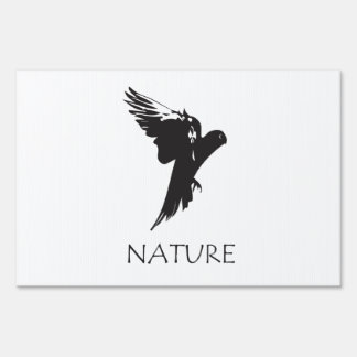 Parrot Macaw   Nature Series Products Sign