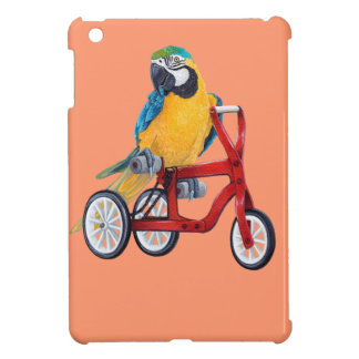 Parrot Macaw on Tricycle bike iPad Mini Cover