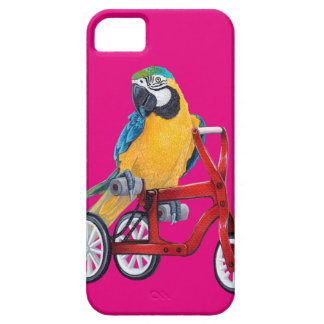 Parrot Macaw on Tricycle bike iPhone SE/5/5s Case