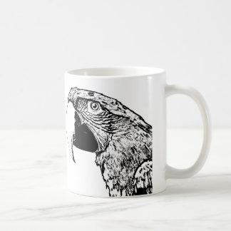 Parrot Monochrome Mug