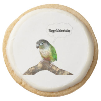 Parrot Mother's Day Round Shortbread Cookie
