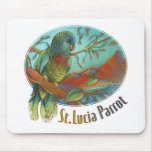 Parrot of St Lucia Mouse Pads