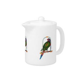 Parrot on Swing Teapot
