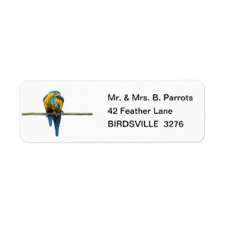 Parrot Pair Return Address Label