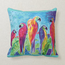 Parrot Parade Pillow