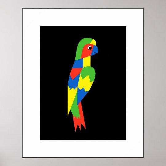 Parrot - passepartout poster