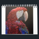 """Parrot Passion Calendar for you<br><div class=""""desc"""">I painted all parrots included in your calendar. I live surrounded by parrots and because painting is my life-long passion,  I painted a lot of birds for my clients and friends. I love vibrant colors and social behaviour of these creatures.</div>"""