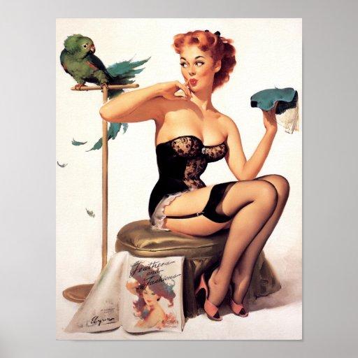 Parrot Pin Up Print