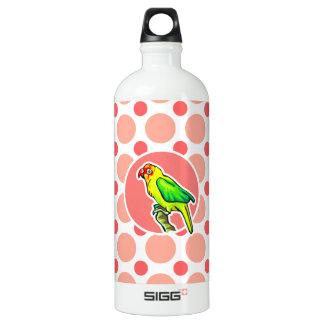 Parrot; Pink & Coral Polka Dots SIGG Traveler 1.0L Water Bottle