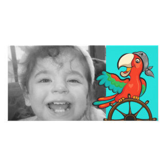 Parrot Pirate Personalized Photo Card