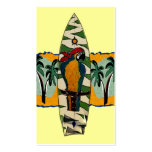 Parrot Pirate  Surf Board Cards Business Cards