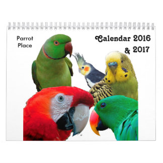 Parrot Place Calendar 2016 & 2017, Medium Size