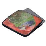 Parrot Portrait Bird Lovers Custom Laptop Sleeve