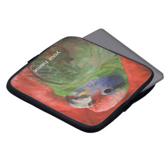 Parrot Portrait Bird Lovers Custom Laptop Sleeve