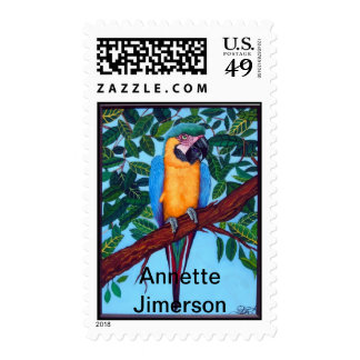 Parrot Postage Stamp